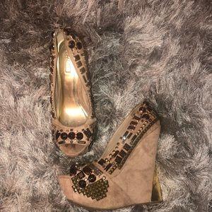 Peep toe Wedge Heel